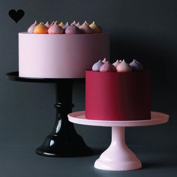 Taartplateau pastel roze klein A Little Lovely Company-4