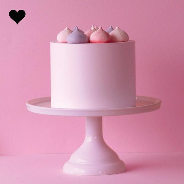 Taartplateau pastel roze klein A Little Lovely Company-2