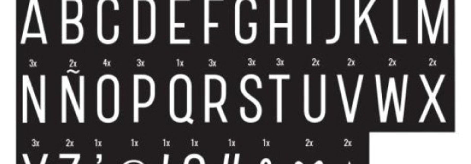 Symbolenset Monochrome voor lightbox A4 en A5