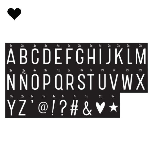 Symbolenset Monochrome voor lightbox A4 en A5-1