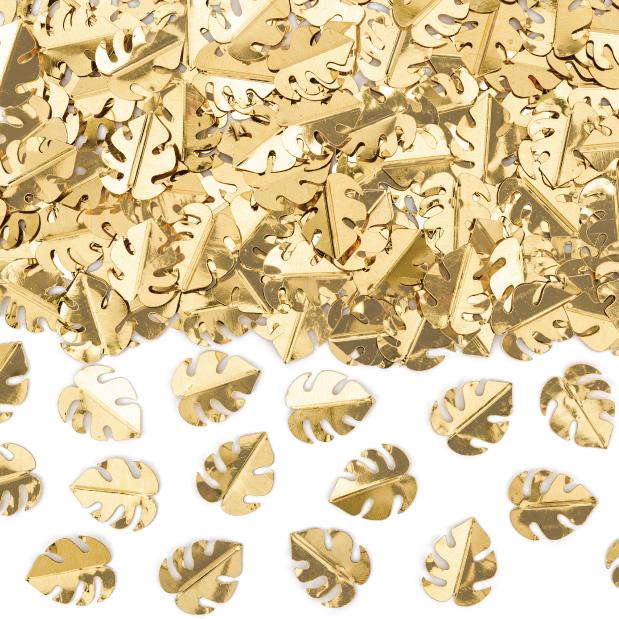 Tafelconfetti blaadjes goud-1