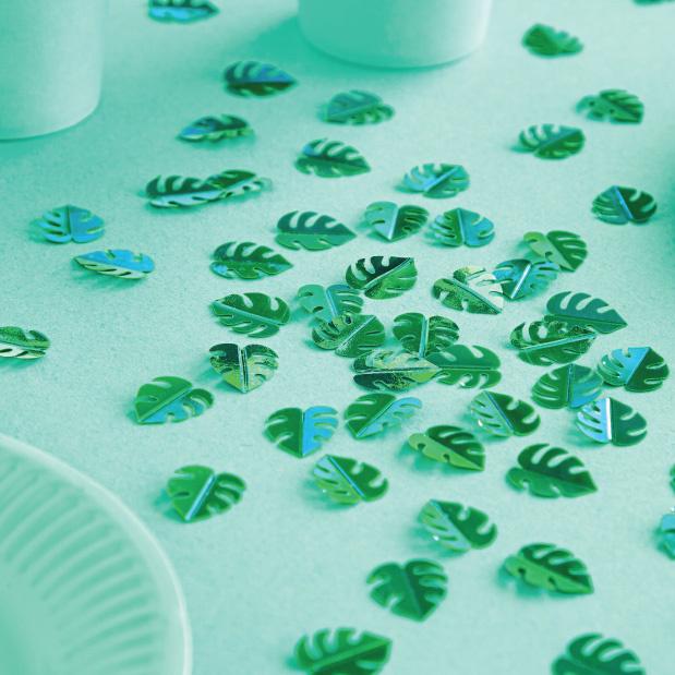 Tafelconfetti blaadjes groen-2