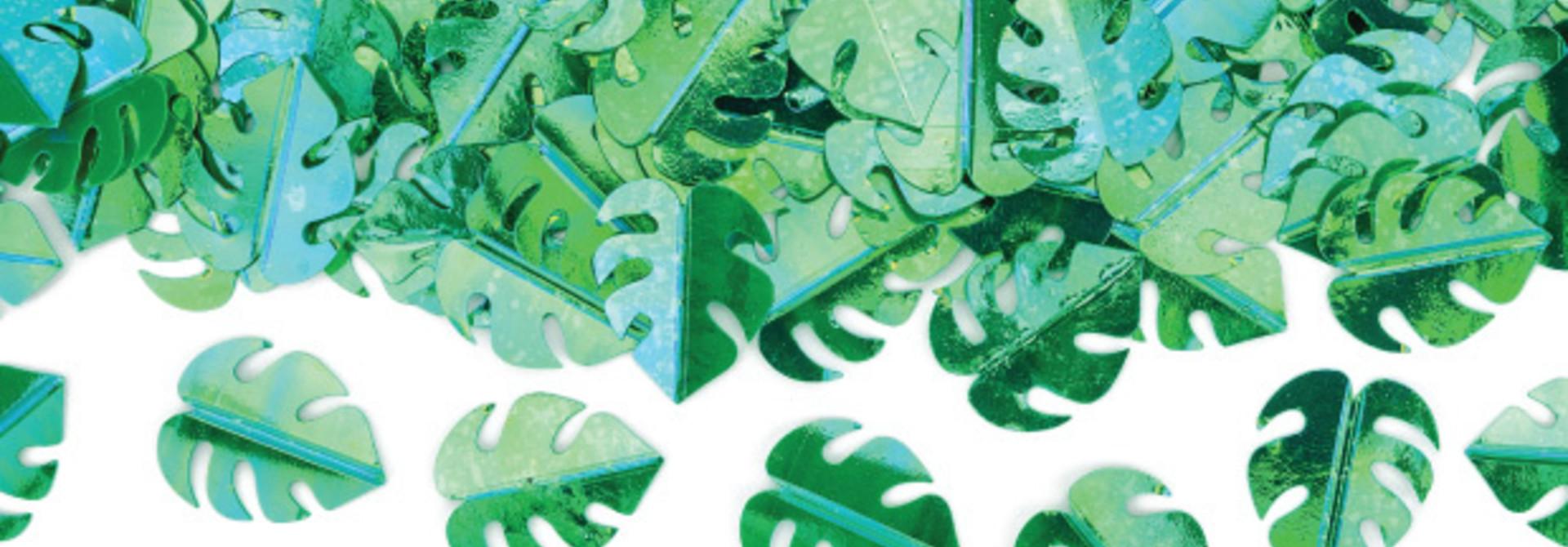 Tafelconfetti blaadjes groen