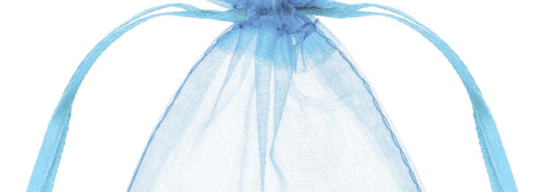 Organza zakjes lichtblauw (20st)