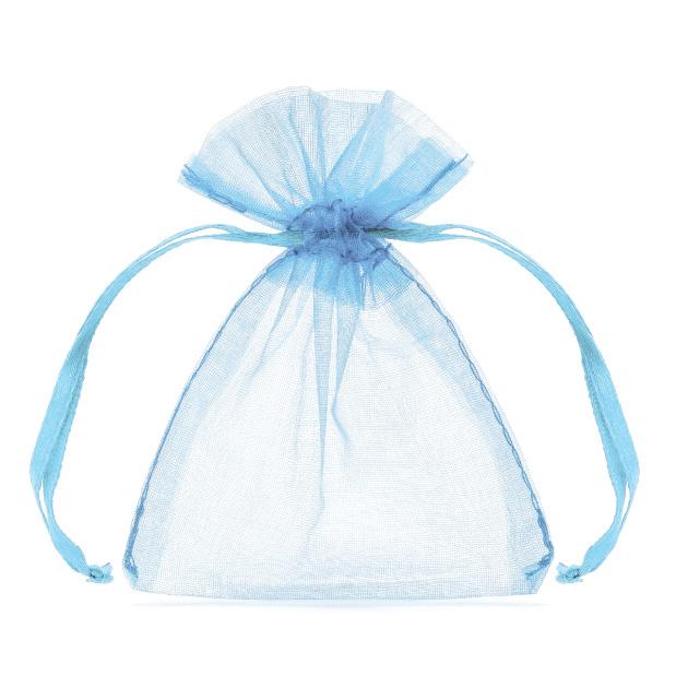 Organza zakjes lichtblauw (20st)-1
