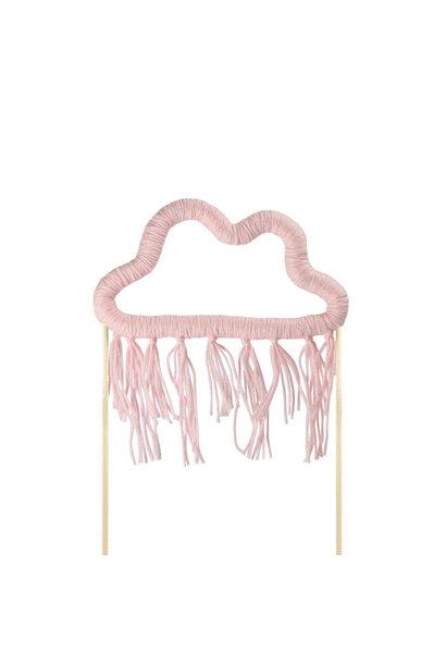 Taarttopper wolk roze katoen