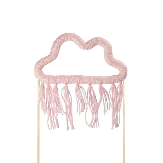 Taarttopper wolk roze katoen-1