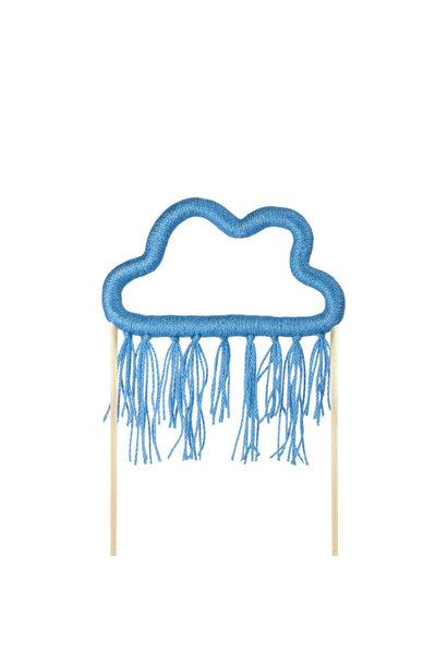 Taarttopper wolk blauw katoen