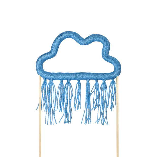 Taarttopper wolk blauw katoen-1