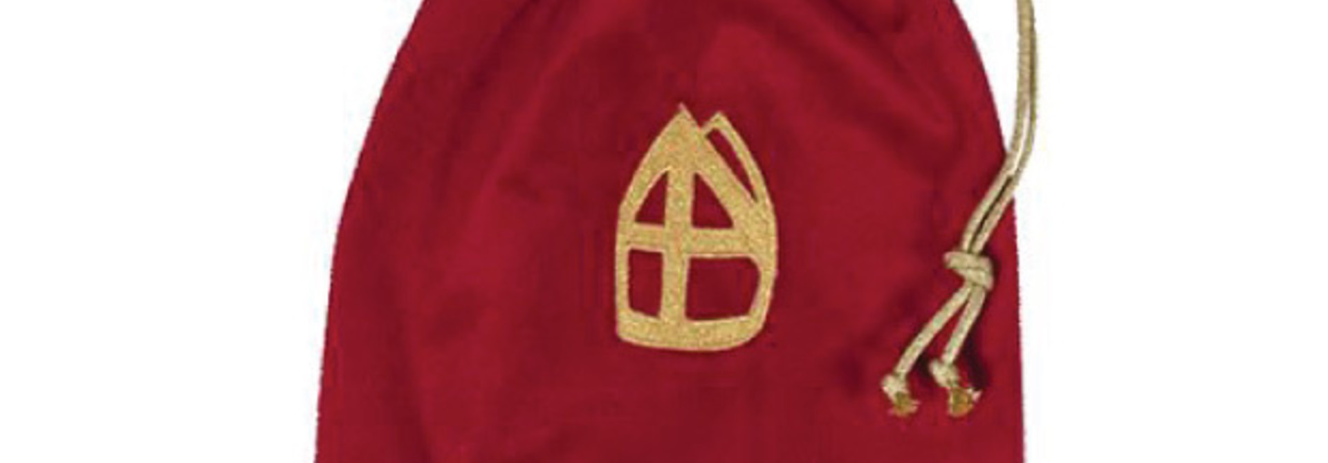 Strooizak luxe  fluweel rood