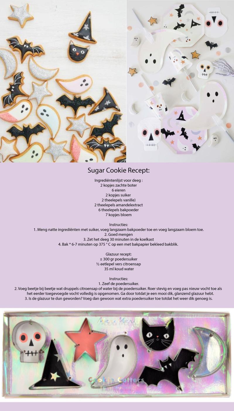 Halloween koekjes recept