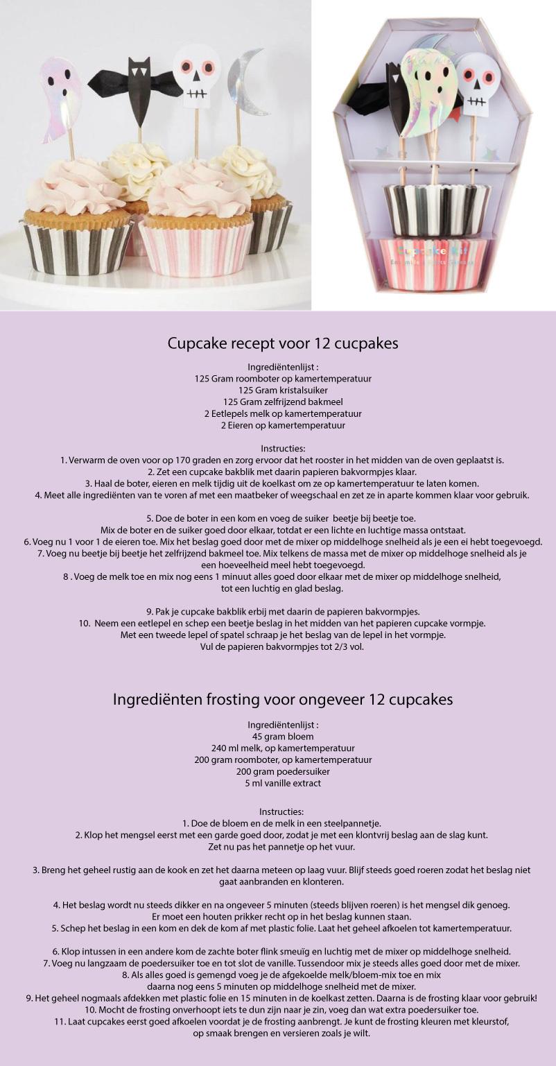Halloween cupcake recept