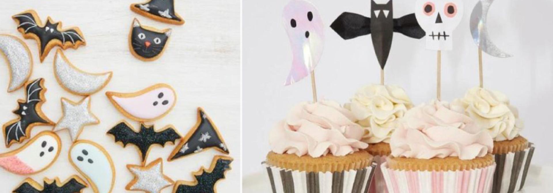 Halloween koekjes en cupcake recept