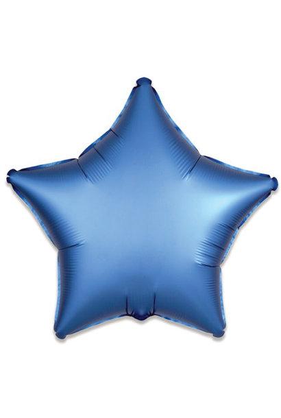 Folieballon satin luxe ster blauw (43 cm)