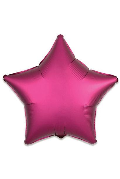 Folieballon satin luxe ster granaatappel (43 cm)