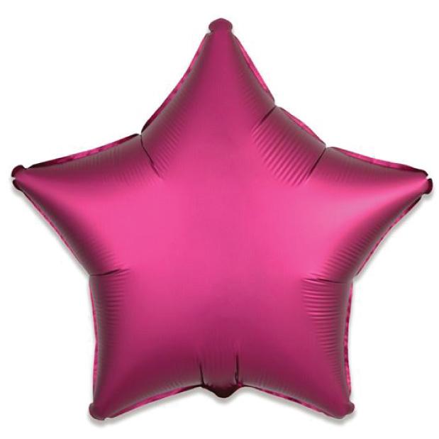 Folieballon satin luxe ster granaatappel (43 cm)-1