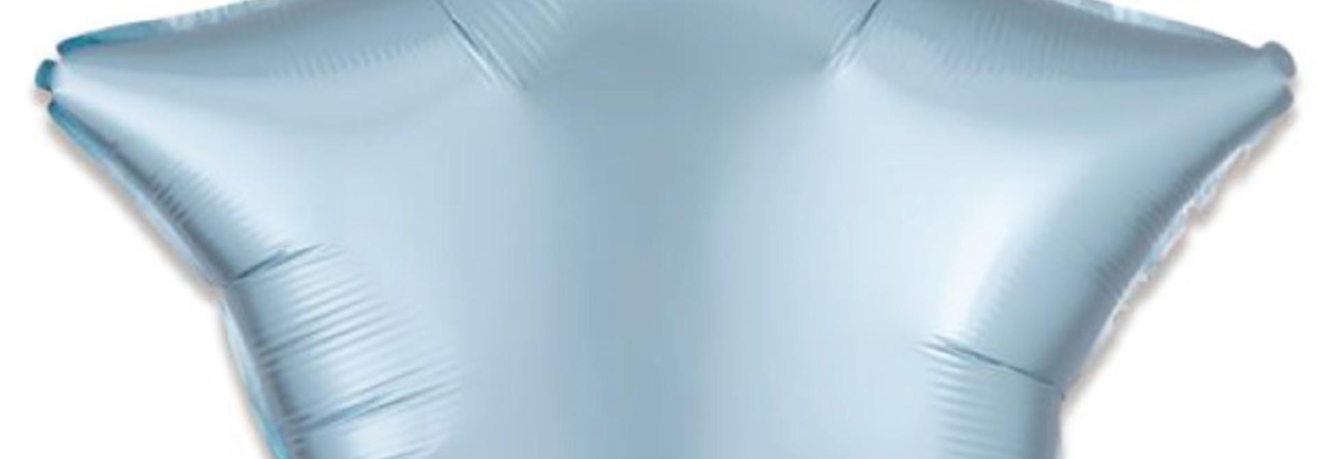 Folieballon satin luxe ster pastel blauw (43 cm)