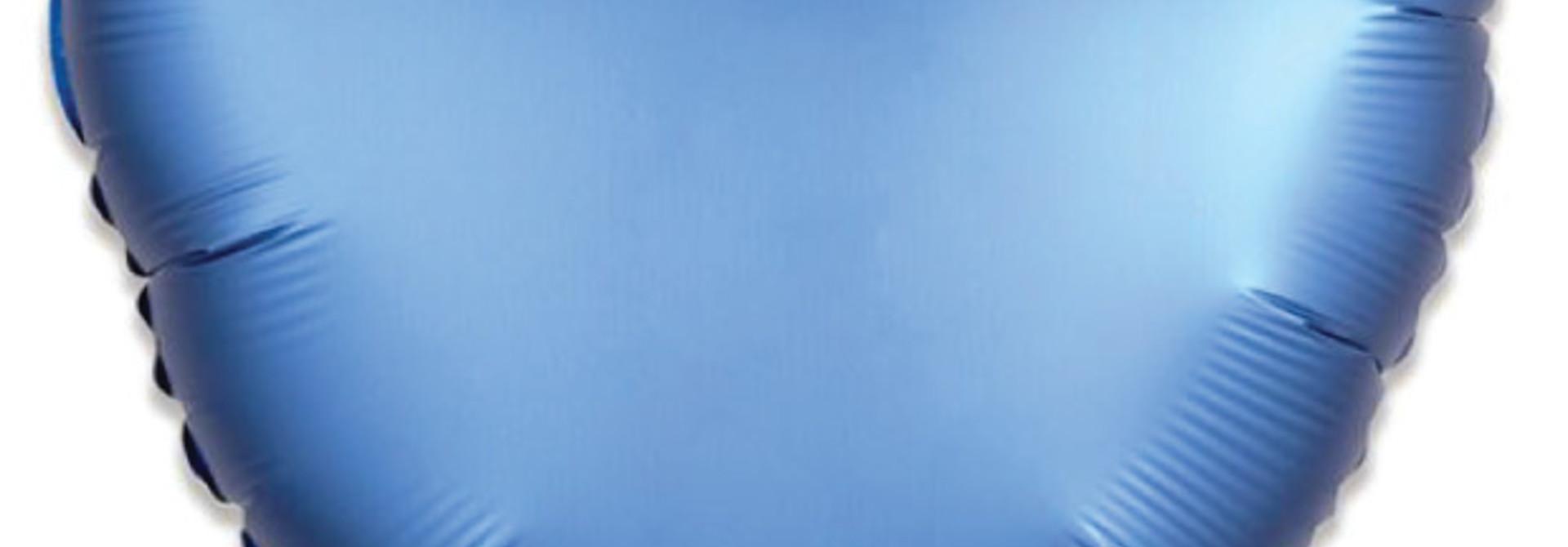 Folieballon satin luxe hart blauw (43 cm)