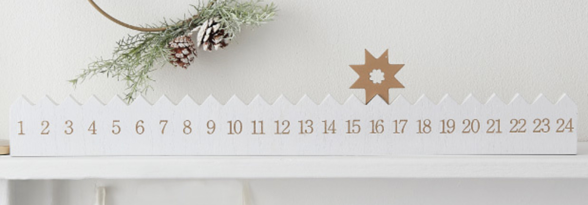 Adventskalender hout A toch of sparkle Ginger Ray