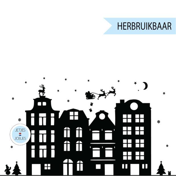 Raamsticker Sinterklaas met gratis kerstsetje (herbruikbaar)-2