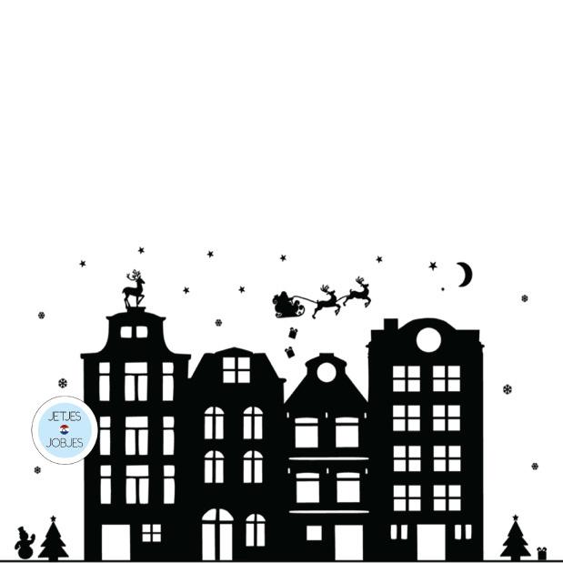Raamsticker kerst-1