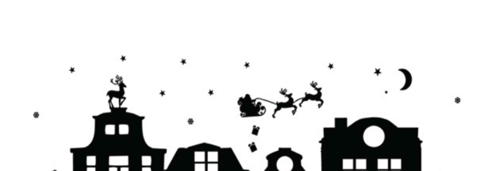 Raamsticker kerst (herbruikbaar)