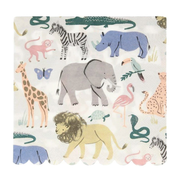 Servetten Safari Animal (20st) Meri Meri-1