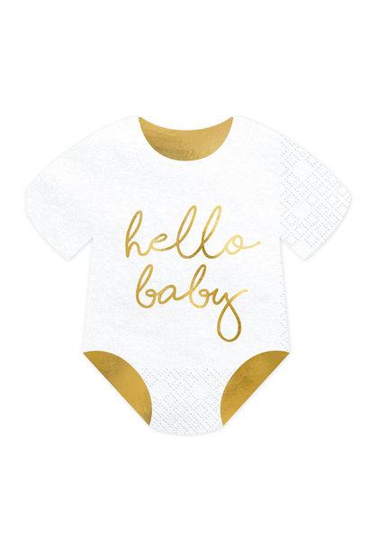 Servetten romper (20cm) Hello Baby
