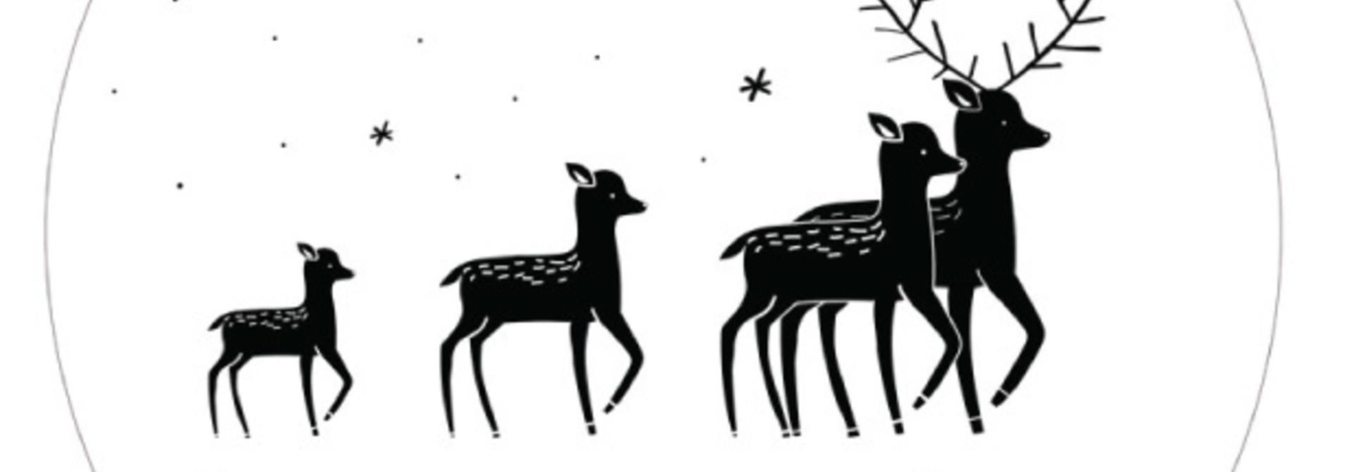 Muurcirkel Kerst herten
