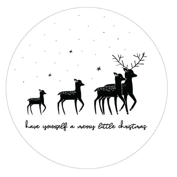 Muurcirkel Kerst herten-1