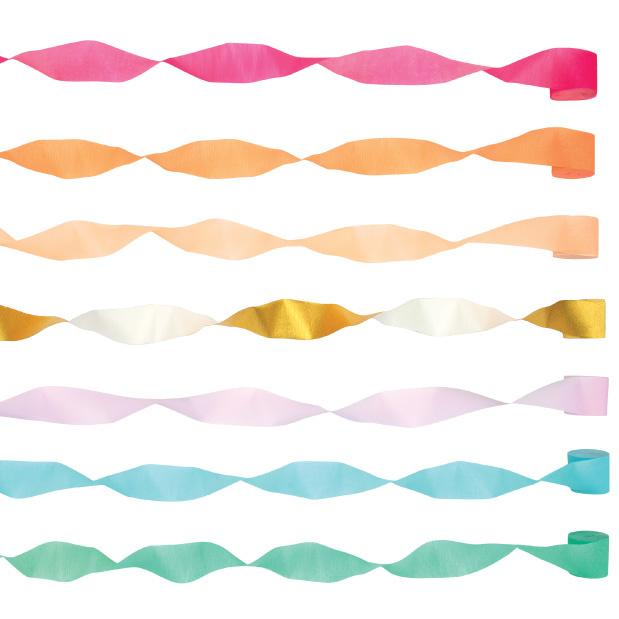 Streamers Bright (7st) Meri Meri-3