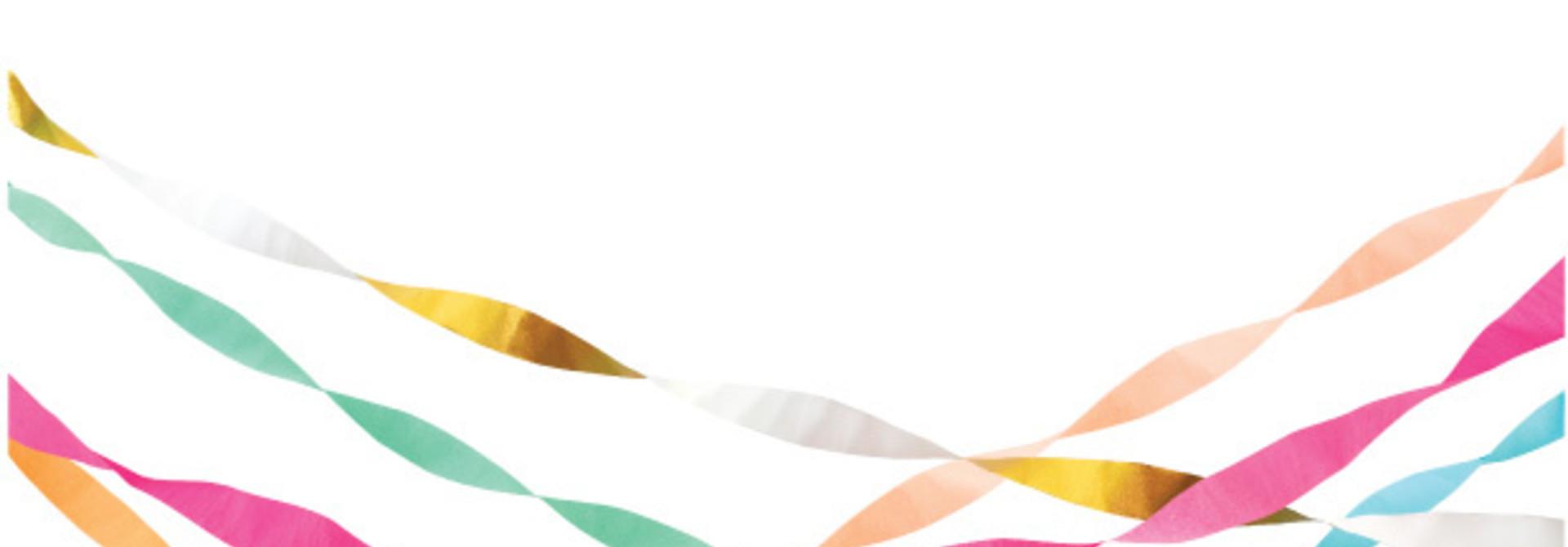Streamers Bright (7st) Meri Meri