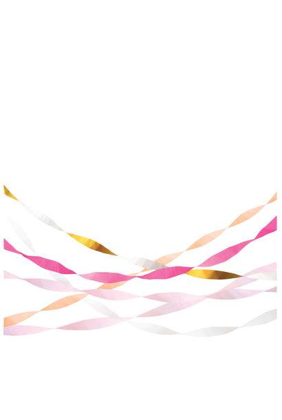 Streamers Pink & Gold (5st) Meri Meri