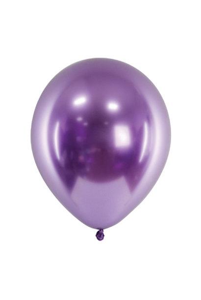 Chroom ballonnen paars(10st)