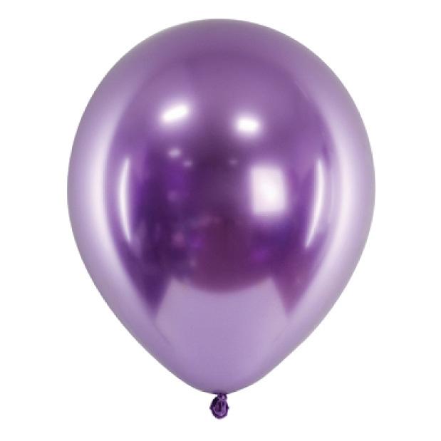 Chroom ballonnen paars(10st)-1