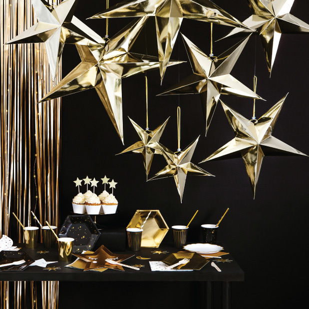 Papieren ster goud (45cm)-2