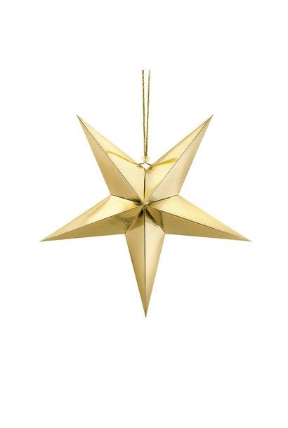 Papieren ster goud (45cm)