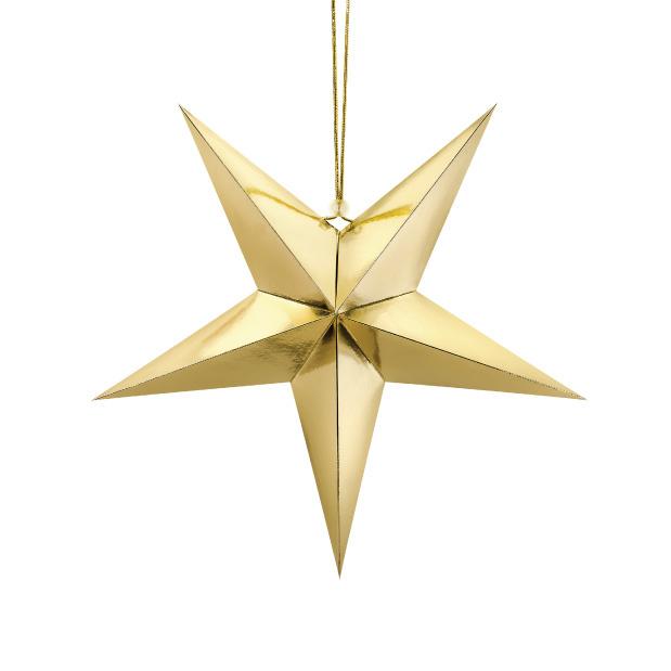 Papieren ster goud (45cm)-1