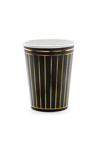 Bekertjes golden stripes (6st)