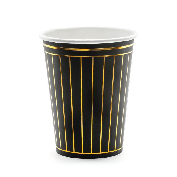 Bekertjes golden stripes (6st)-1