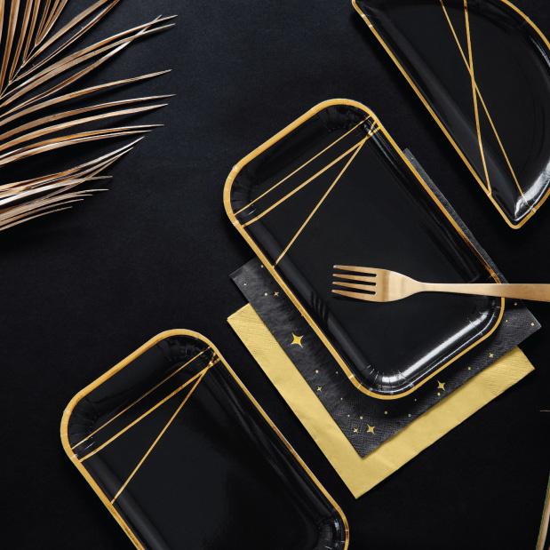 Bordjes Golden stripes (6st)-2