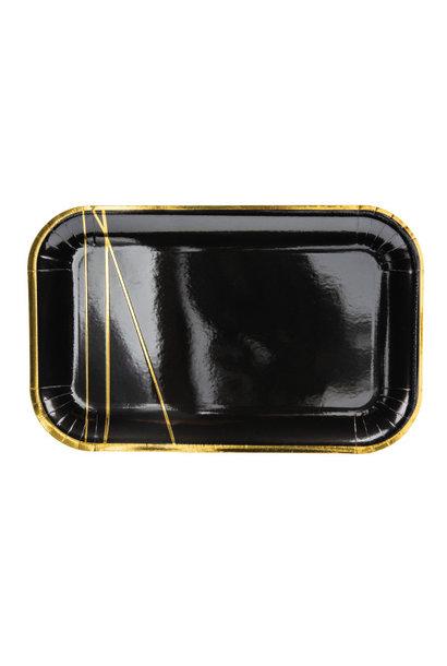 Bordjes Golden stripes (6st)
