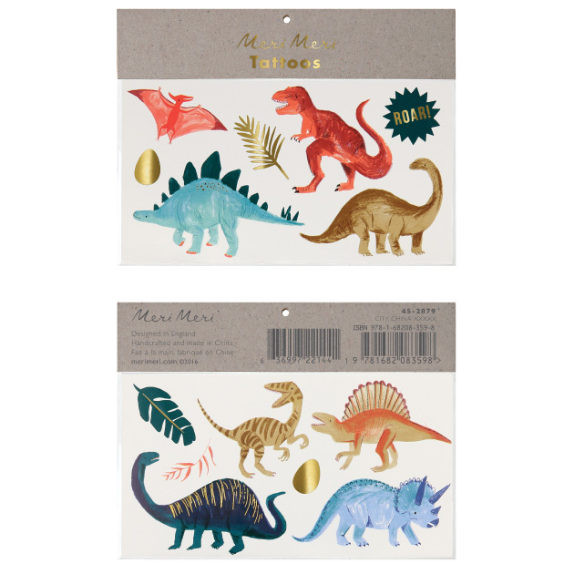 Plaktattoos Dinosaur Kingdom (13st) Meri Meri-1