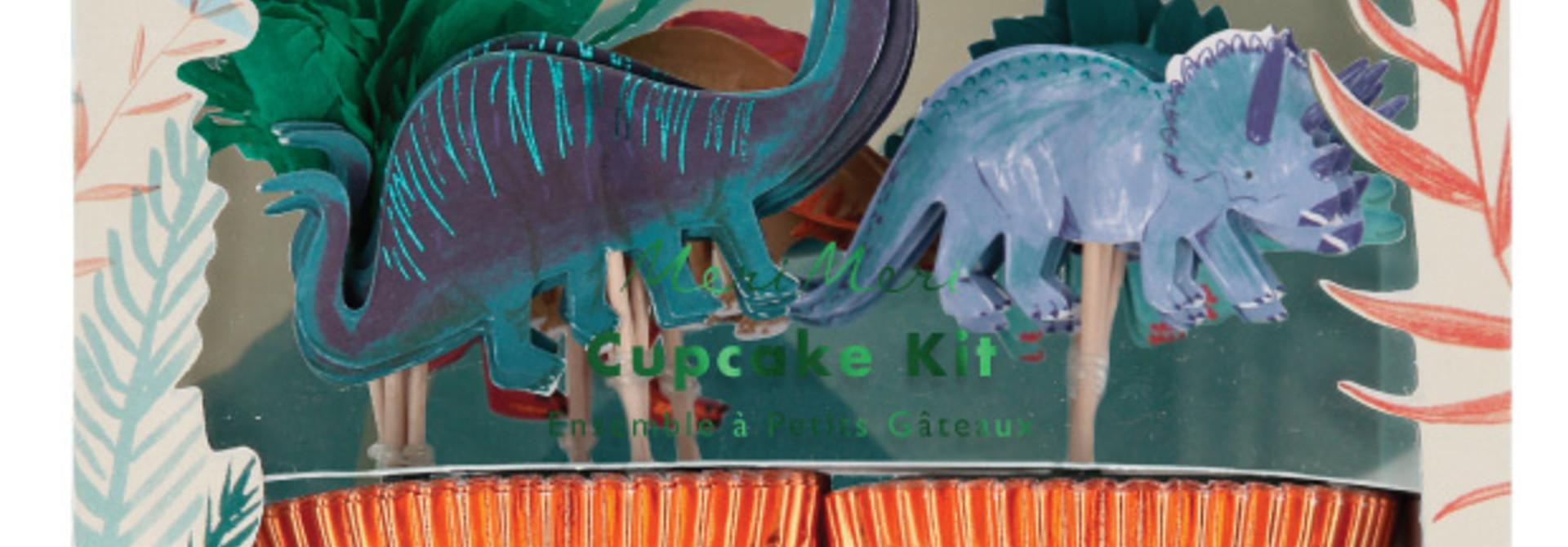 Cupcake kit Dinosaur Kingdom (48st) Meri Meri