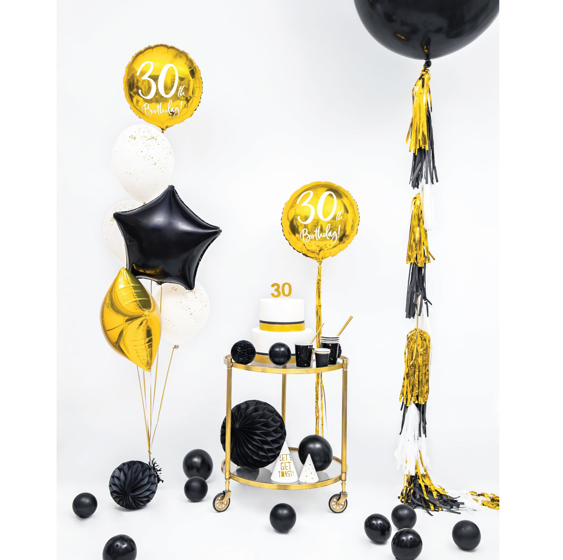 Folieballon 30th Birthday goud (45cm)-4