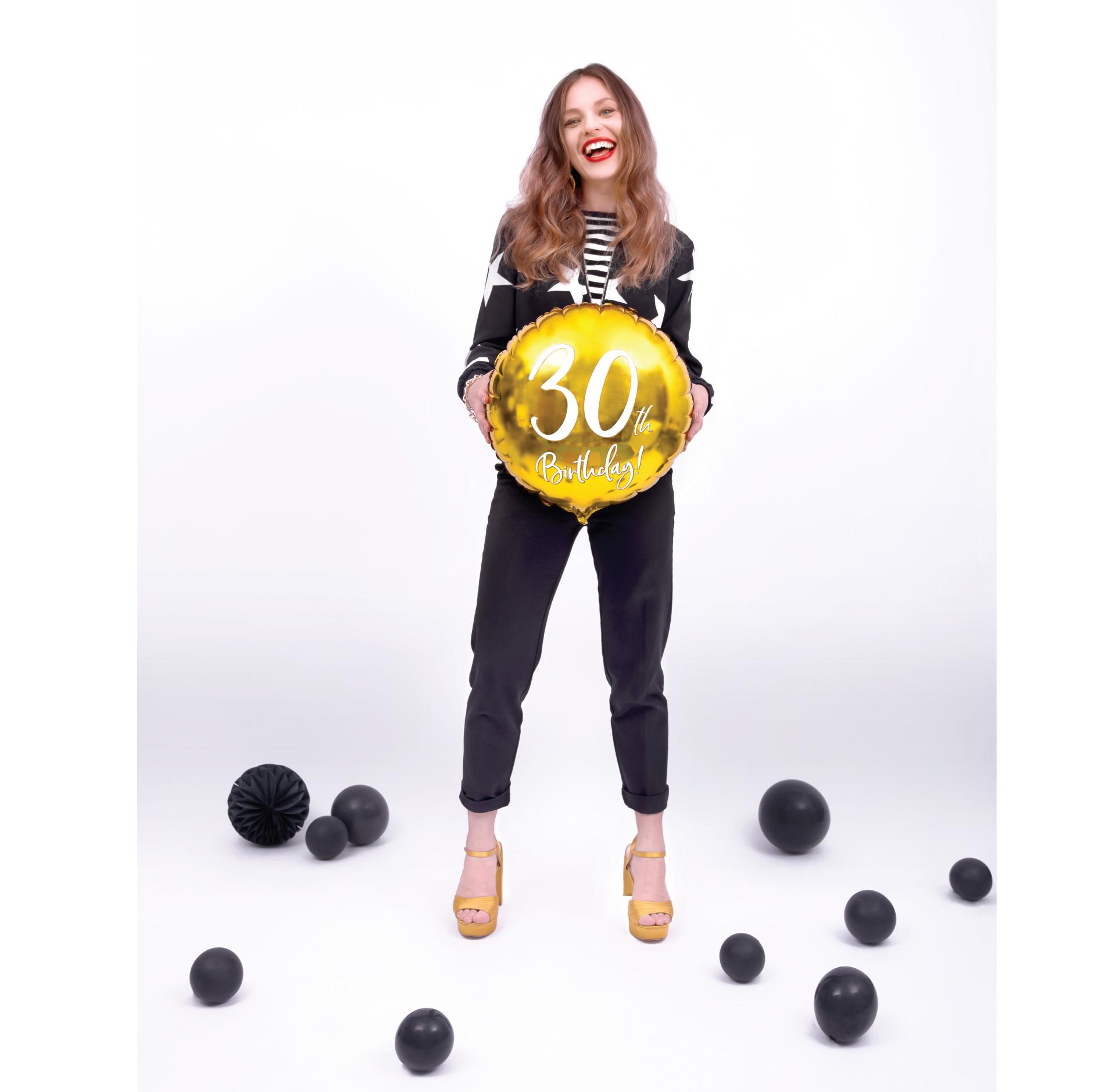 Folieballon 30th Birthday goud (45cm)-2