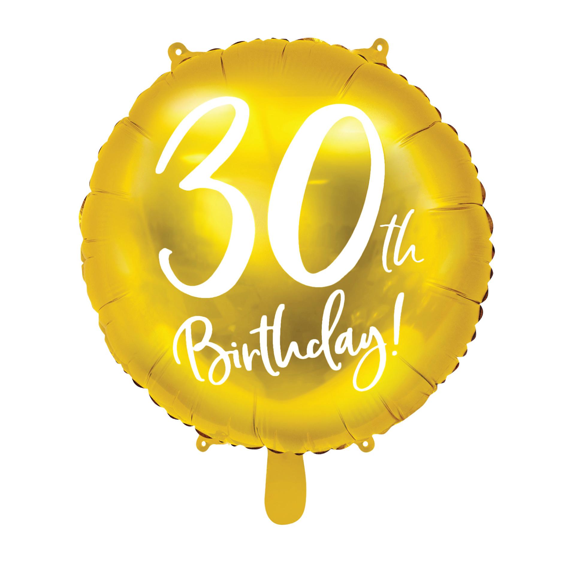 Folieballon 30th Birthday goud (45cm)-1