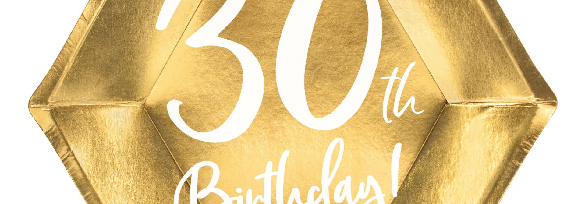 Borden 30th Birthday goud (6st)