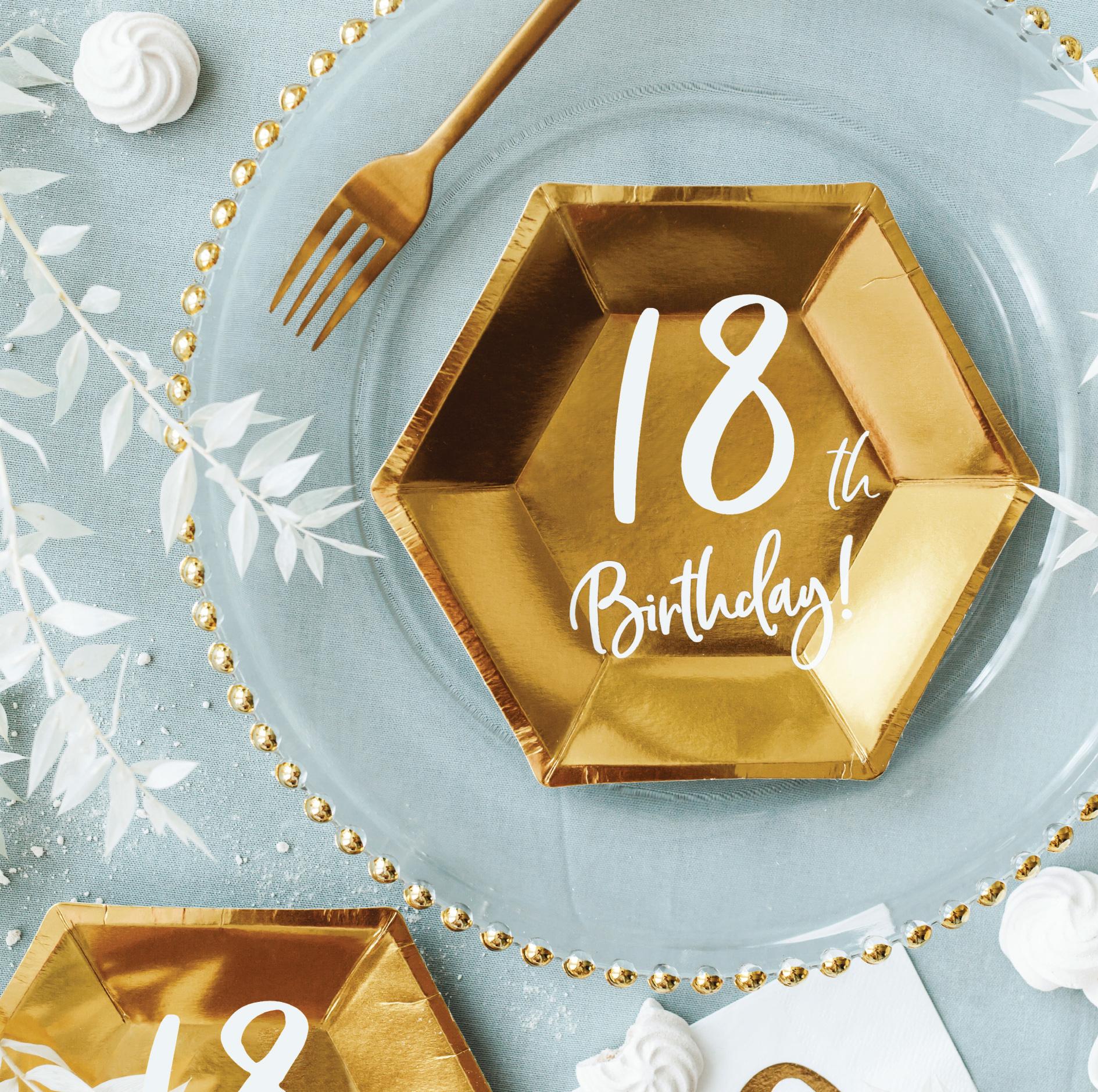 Borden 30th Birthday goud (6st)-2