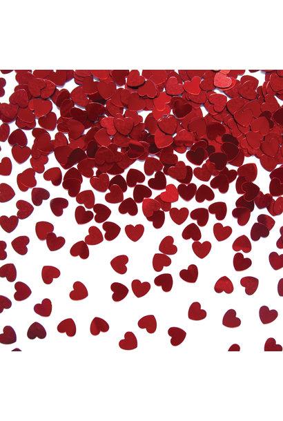 Tafelconfetti harten rood